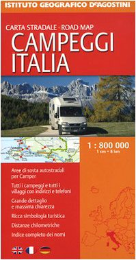 Campeggi Italia 1:800.000 (Carta turistica stradale)
