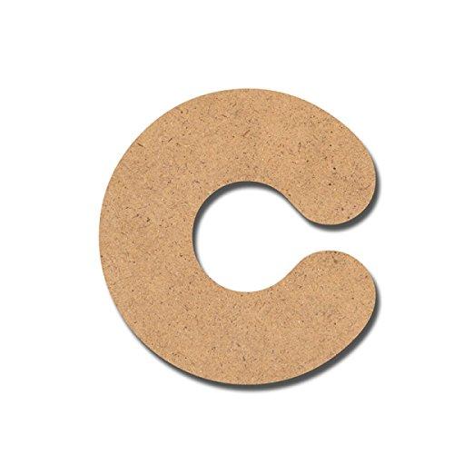 Detalles Infantiles Lettre « C » en bois pour bricolages 7 cm