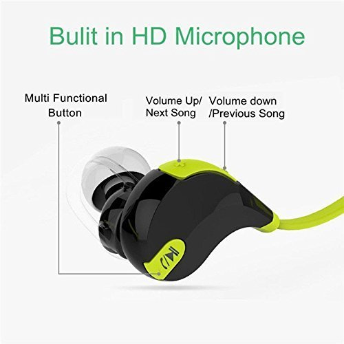Wireless Bluetooth in-Ear Headphones for OnePlus 7T Pro Sports Bluetooth Wireless Earphone with Deep Bass and Neckband Hands-Free Calling inbuilt Mic Headphones with Long Battery Life and Flexible Headset Image 4