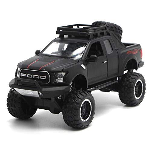 Pickup Truck Modell Big Tire Buggy Toy Car Modell Geeignet für Kinder oder Erwachsene (Color : Black)