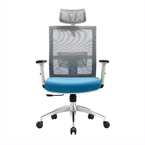Jingtaohailang Stuhl Gray Mesh Chair Bürokonferenzstuhl Computertisch und Stuhl Bürostuhl Kopfstütze Seat Boss Chair Drehstuhl (Color : Gray, Size : 130 * 62CM)