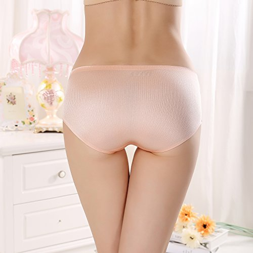 FZmix New Arrival Women'S Sexy Ice Silk Panties Seamless Panty Briefs Underwear Intimates Panties Shrimp powder