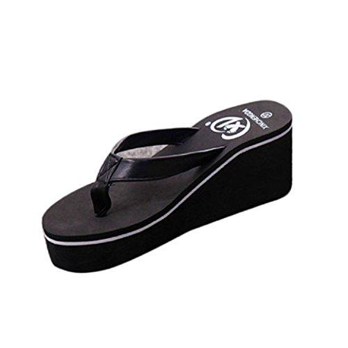 Fulltime®Femmes Summer Tongs Muffin Pente Avec Sandals