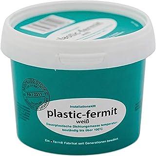 Plastic Aqua-Fermit White Permanent Plastic Seal of Gauge Temperature Resistant up to 100°C (500g/1000g Tub), White