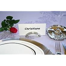 10 St/ück Namens Tabellen-Einstellung Marker Platzkartenhalter in Herzform Memo Foto Clips Halter Veewon Hochzeits
