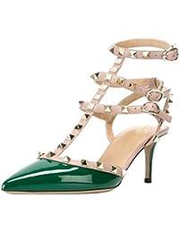 Lutalica Zapatos de tacón Alto con Punta en Punta para Mujer Sandalias de  tacón Alto con fbb6d071d3ba