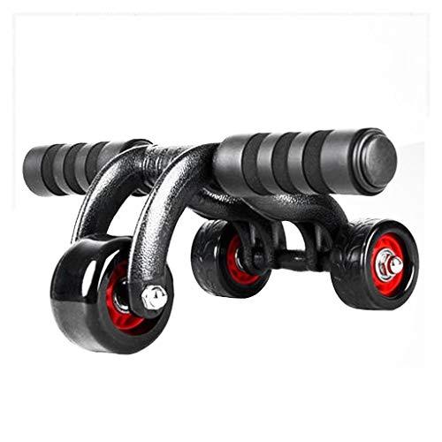 Fettverbrenner Bauch Rad Sport Fitness Ausrüstung Core Training Silent Wear Männer Und Frauen Training Bauchmuskeln Roller Schwarz Geschenk (Color : Black, Size : 37 * 46 * 20cm)