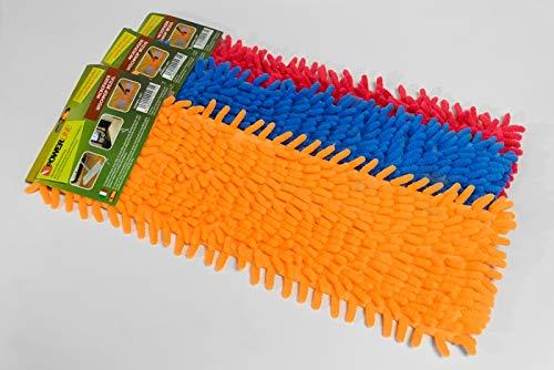 Power-Line Bodenwischer Ersatzbezug Wischmop Mikrofaser 4er Set -