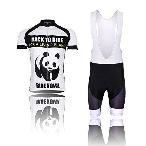 (Tipo:Set(Bretella) taglie:XL) [Si consiglia una taglia più grande] Set maglietta corti Sports asciutto traspirante comodo Ciclismo prestazioni della Pad Calzamaglia Abbigliamento gilet Cycling bici