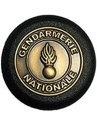 Bouchon Gendarmerie Nationale acier noir mat - ASP