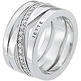 JETTE Silver Damen-Ring Wrapping 925er Silber rhodiniert 40 Zirkonia (silber)