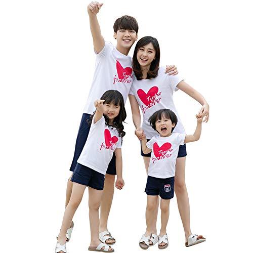 -Sets Passende Outfits Mutter-Tochter-Kleidung-Paare lieben Sommerausflug-Mama und ich kleiden große Schwester kleine Schwester ()