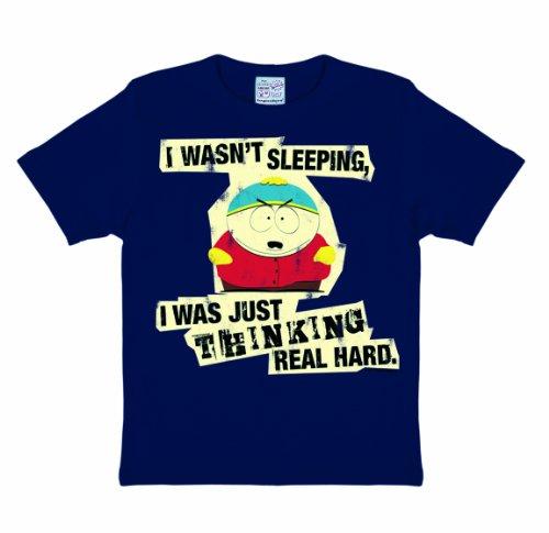 - Thinking T-Shirt Kinder - dunkelblau - Lizenziertes Originaldesign - LOGOSHIRT, Größe 80/86, 18 Monate (South Park Kenny Kostüm)