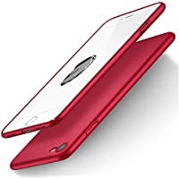 iPhone 7 Hülle, iPhone 8 Hülle, RANVOO Dünn Leicht Hart Ultra Slim Plastik Voller Schutz Anti-Kratzer Anti-Fingerabdruck Matt Case Schutzhülle Schale Cover Handyhülle für iPhone 7 und iPhone 8, Rot