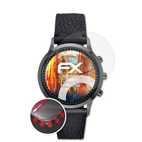 atFoliX Schutzfolie passend für Armani Connected Folie, entspiegelnde und Flexible FX Displayschutzfolie (3X)