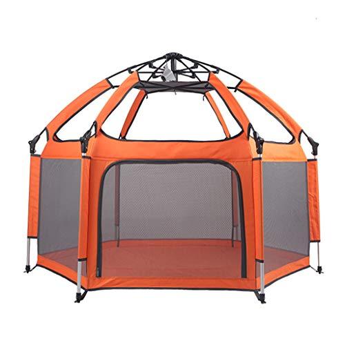Laufgitter & -ställe Outdoor-Spielzaun Für Kinder Sicherheitsspiel Laufstall Indoor-Spielplatz Indoor-Spielbereich Geschenk des Kindes (Color : Orange, Size : 150x130x100cm) -