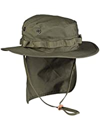Miltec British Military Style Olive Drab Rip Stop boonie Hat With Neck Flap