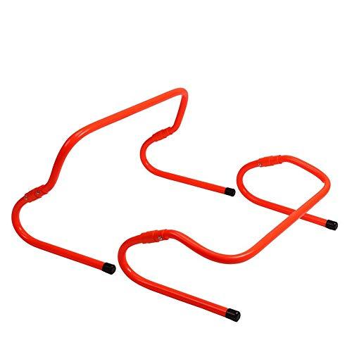JJSFJH Set von 4 Speed   Hurdles - Beweglichkeit, Plyometric und All Purpose Speed   Training Hurdle mit Tragegriffen (Color : Orange) -