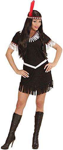 Widmann 06703 - Erwachsenenkostüm Indianerin, Kleid und Stirnband -