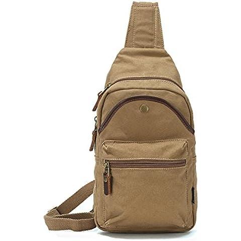 Bolsas de lona/Paquete del pecho/Bolso de hombro de los hombres/Arte vintage bolsa de deporte de ocio al aire libre del montar a