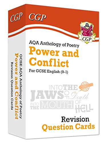 New 9-1 GCSE English: AQA Power & Conflict Poetry Anthology - Revision Question Cards (CGP GCSE English 9-1 Revision)