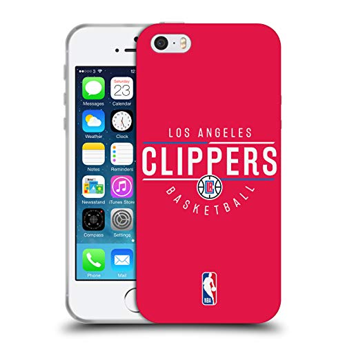 Head Case Designs Offizielle NBA Logotyp 2018/19 Los Angeles Clippers Soft Gel Huelle kompatibel mit iPhone 5 iPhone 5s iPhone SE (Los Clippers 5s Angeles Iphone)