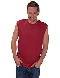 Hommes Uni Coton Haut Sans Manche / T-Shirt ~ s à XXL
