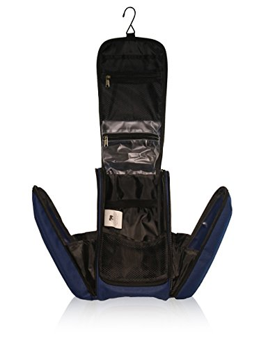 Grande borsa da toilette, borsetta - beauty case da viaggio per accessori bagno cosmetici, xxl (midnight blue)