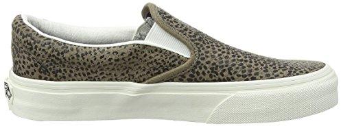 Vans Classic Slip-on, Sneakers Basses mixte adulte Nero (Cheetah Suede/Black/Tan)