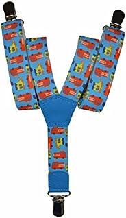 Olata Bretelle Elasticizzata per Bambini 1-5 Anni, Y' Clip design Autopompa Mod