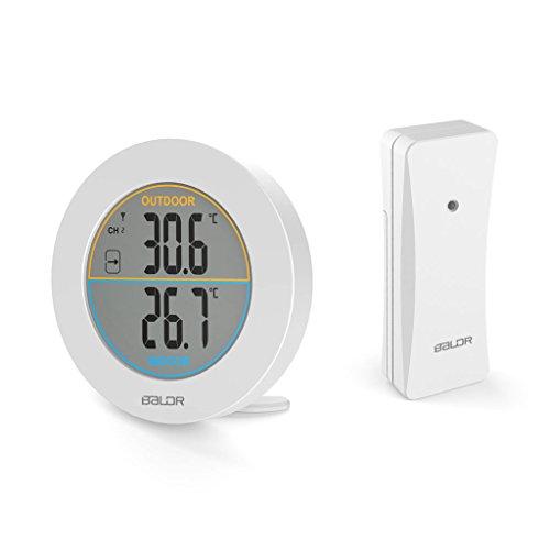 A0127 Tabelle Wireless Thermometer LCD Anzeige Indoor Außensensor Temperatursensor