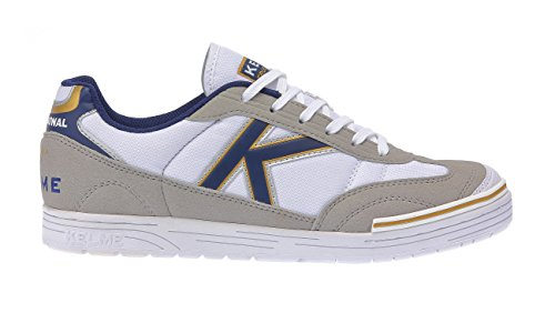 Kelme - Trueno Sala, Scarpe da calcio Unisex – Adulto Bianco (Bianco / Blu)