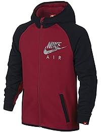 Nike Air Flash Brushed Fleece Full-Zip Boys Hoodie Gym Red/Black/Gym Red COMUK:1413