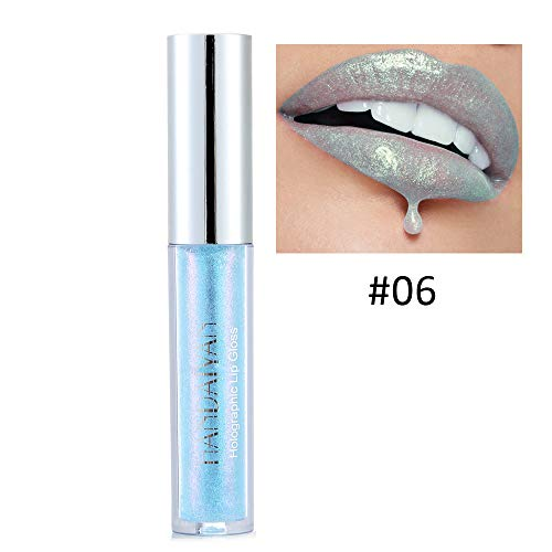 PNING Wasserdichte langlebige Flüssigkeit polarisieren Licht Lippenstift Makeup Lip Gloss Lip Polarisierte Lipgloss Meerjungfrau bunten Perlglanz Feuchtigkeitsspendend Lipgloss