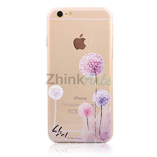Handy Hülle mit Motiv Case Cover Silikon Schutzhülle TPU von ZhinkArts für Apple iPhone 7 Pusteblume Weiß M14 Pusteblume M5