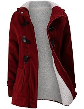 WanYang Mujer Invierno Abrigo Casual Sudadera con Capucha Chaqueta de Lana Capa Jacket Parka Pullover