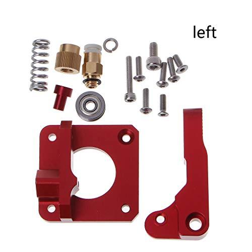 UOTA Upgrade MK8 - Extrusión de alimentador extrusor (1,75 mm, filamento para CR-7 CR-8 CR-10 CR-10S, con regulable), Red, 1
