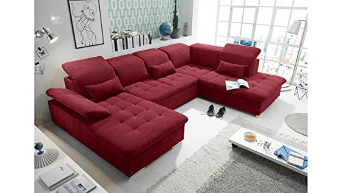 JUSTyou Honolulu Wohnlandschaft Polsterecke Couchgarnitur (HxBxL): 81x188x340 cm Rechts Rot