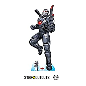 Star Cutouts SC1606 Ltd Máquina de guerra Ariel Assault cartón de tamaño real recorte perfecto para los fans de Marvel, coleccionistas y eventos Altura 194 cm Ancho 78 cm, multicolor