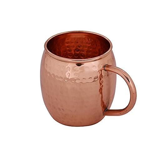 Kosma Pure Copper Beer Mug (Hammered Finish) mit Kupfer Griff - 16 Unzen | 475ml