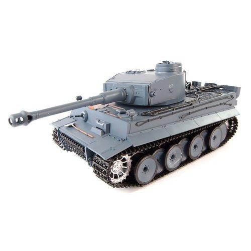 German Tiger I 2.4GHz-Edition RC ferngesteuerter 1/16 Panzer,Schuss,Sound,Rauch,Komplett-Set RTR -