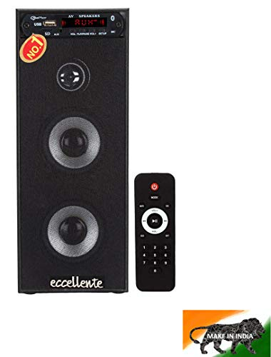 Eccellente Mini Tower Bluetooth Speaker_Black_108ECCHT