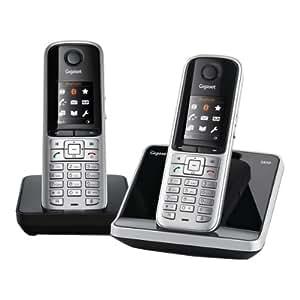 Gigaset S810 Duo Téléphone sans fil DECT 2 combinés Argent