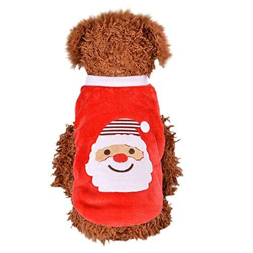 Amphia - Hund mit Vier Beinen,Weihnachtshundewelpen-Kleidungs-Strickjacke-kleines Welpen-Hemd weiche -