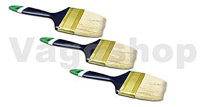 12 x PROFI Flachpinsel 50 mm Malerpinsel Lackpinsel Lasur Flach Pinsel englische Form von Vago-Tools - TapetenShop