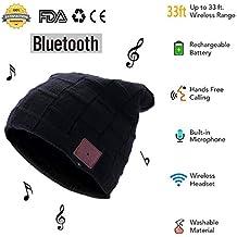 Bluetooth Música Sombrero USB Recargable Punto Gorro de Música Auricular  con Micrófono con Altavoz Estéreo Música 6d0bdbdc708d