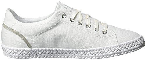 Esprit Silvana Lace Up, Sneakers basses femme Blanc (100 White)