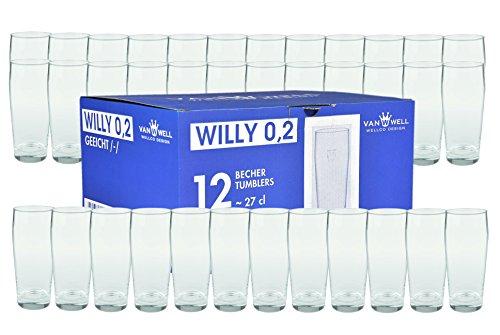 36er Set Bierglas Willibecher 0,2L geeicht