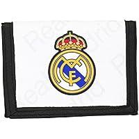 Real Madrid CF, cartera monedero (S036), blanco, 12,5 x 9,5 x 1 cm