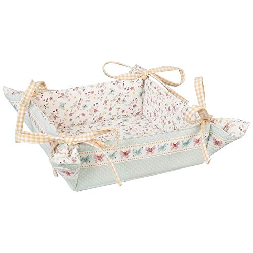 Clayre & Eef FLB47 Fly Like a Butterfly - Corbeille à pain - Motif double ca. 35 x 35 cm